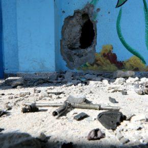 Une école à Gaza visée par un missile israélien