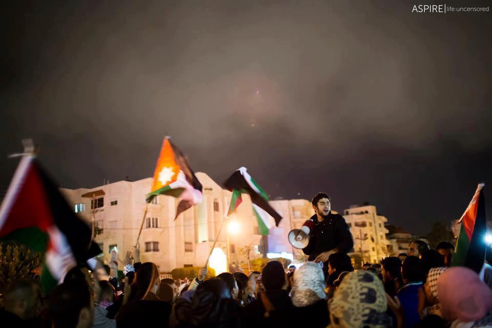 Manifestation au Amman (Jordanie) contre l'agression israélienne à Gaza - 18/11/12