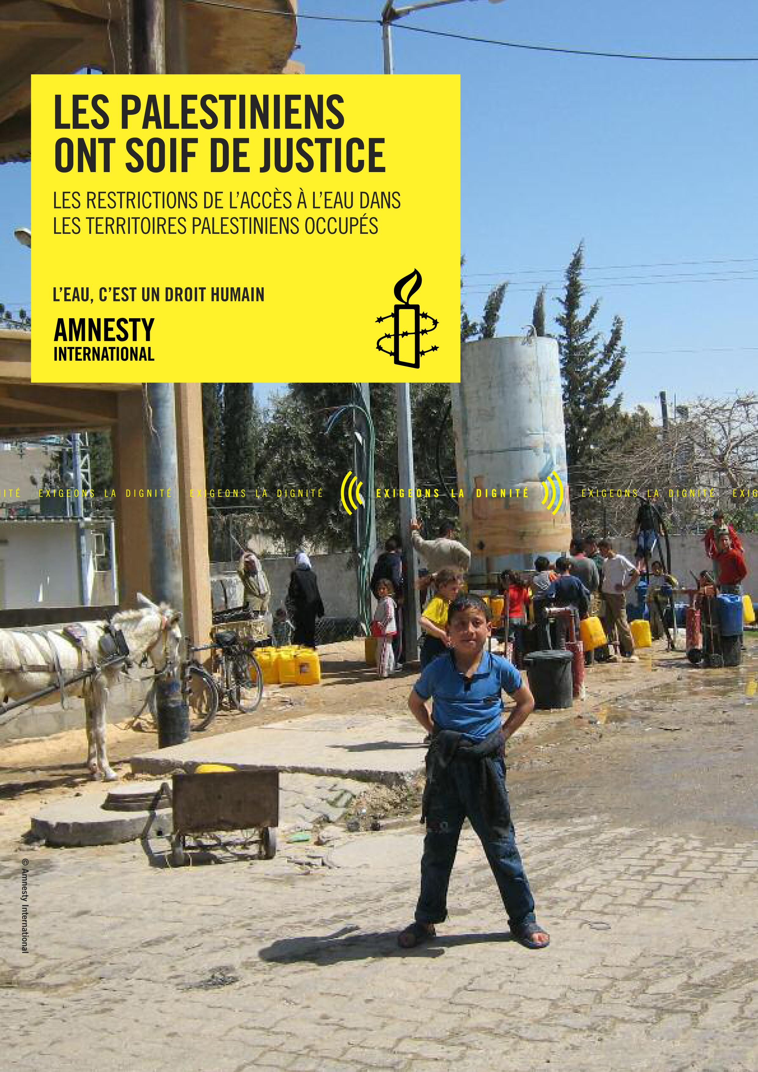 les palestiniens ont soif de justice